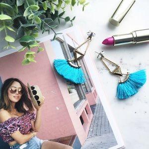 "🆑 ""Catalina"" Earrings || Turquoise Tassel"